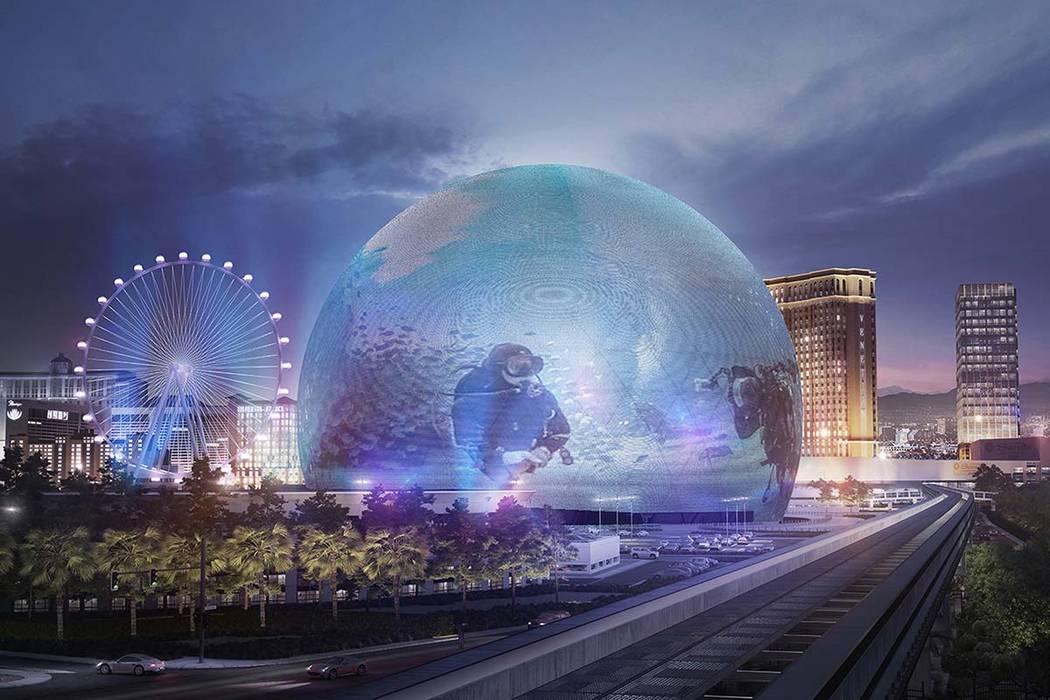 Renderings of images that MSG Sphere would be able to display (Courtesy)