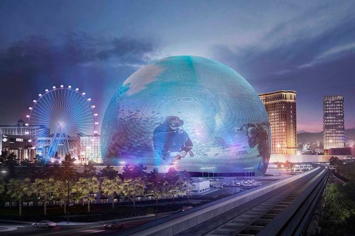 Renderings of images that MSG Sphere would be able to display. (The Madison Square Garden Company)