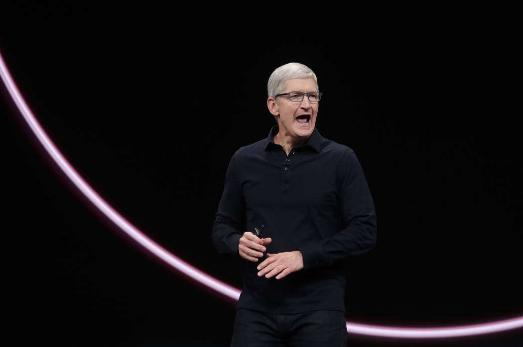 Apple CEO Tim Cook speaks at the Apple Worldwide Developers Conference in San Jose, Calif., Mon ...