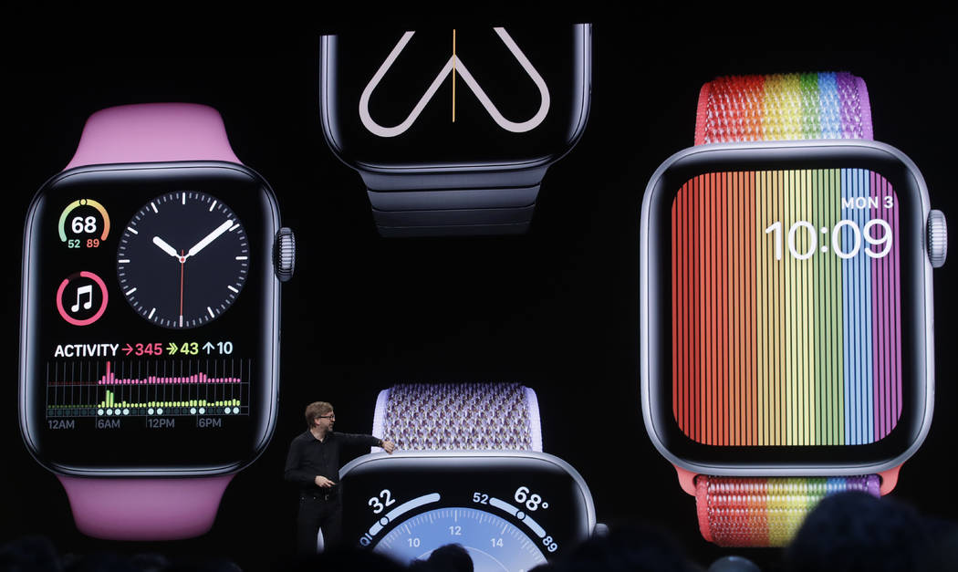 Apple's Kevin Lynch speaks on Apple Watch at the Apple Worldwide Developers Conference in San J ...