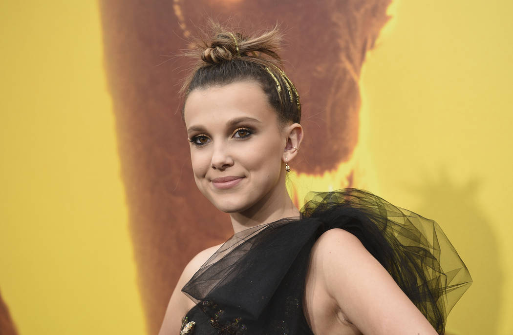 """Millie Bobby Brown arrives at the Los Angeles premiere of """"Godzilla: King of The Monsters"""" on S ..."""