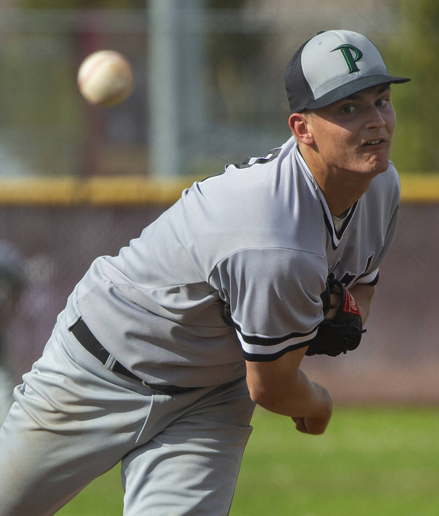 Palo Verde's Peyton Cole is a member of the Nevada Preps all-state baseball team. (L.E. Baskow/ ...