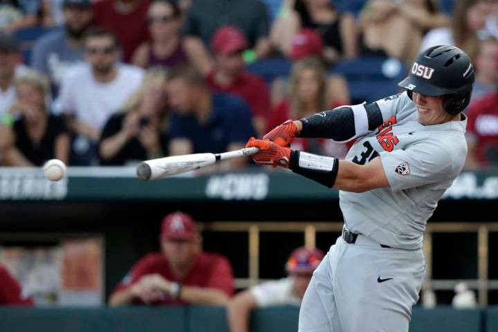 The Baltimore Orioles selected Oregon State catcher Adley Rutschman with the No. 1 pick in the ...