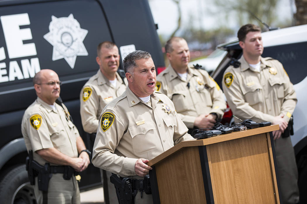 Metropolitan Police Department Capt. Nick Farese speaks during an event outside of Metro's traf ...