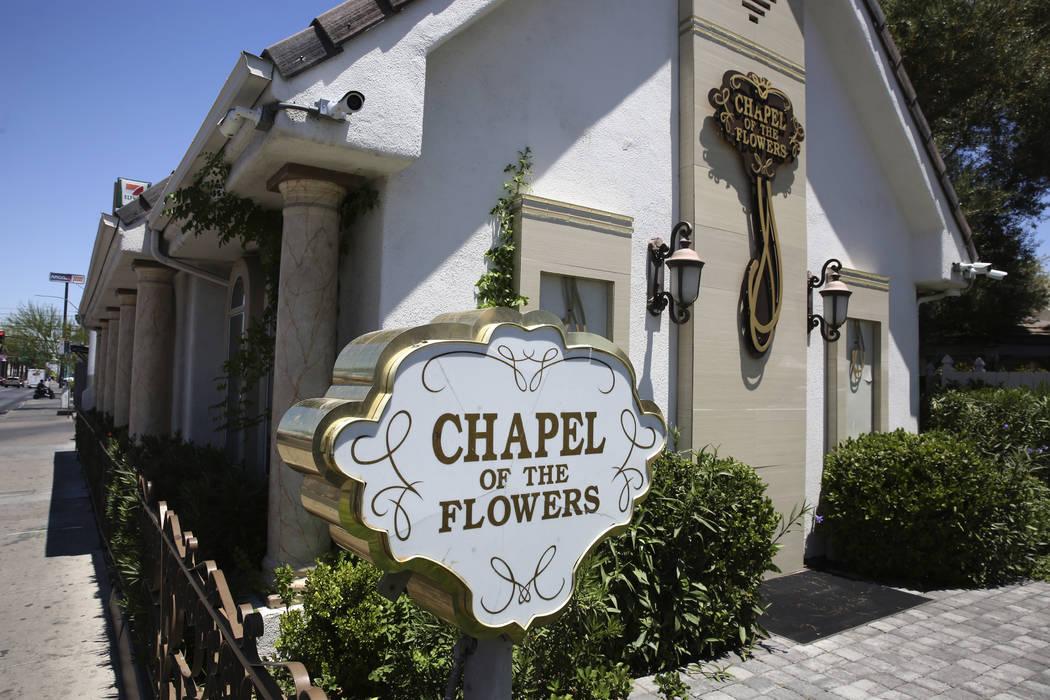 Chapel of the Flowers, a wedding chapel on Las Vegas Boulevard, is photographed on Thursday, Ju ...
