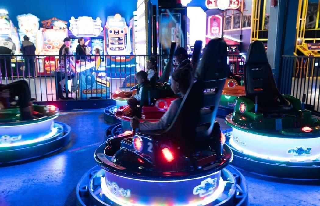 Las Vegas-based Allegiant Travel Co. has opened two family entertainment centers called Allegia ...