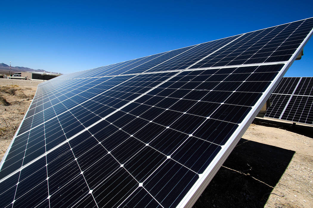 A 424-kilowatt solar array was completed in 2018 at the Nevada National Security Site. Nevada N ...