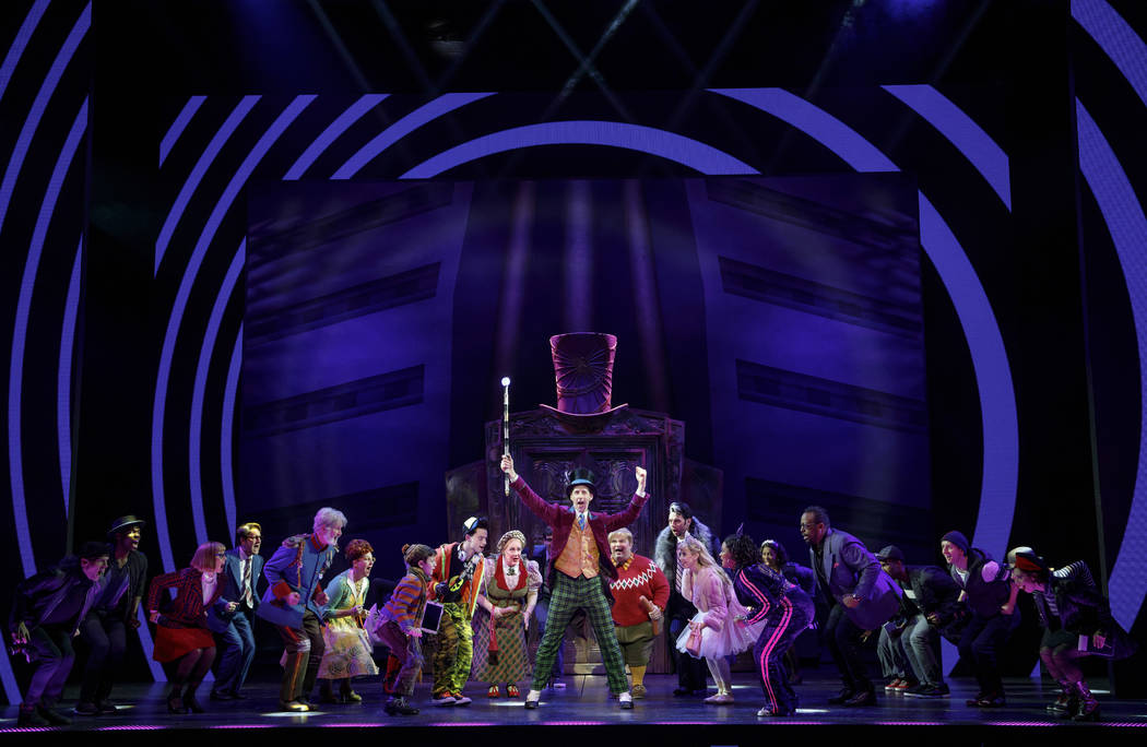 Noah Weisberg as Willy Wonka and company. Roald Dahl's CHARLIE AND THE CHOCOLATE FACTORY. Pho ...