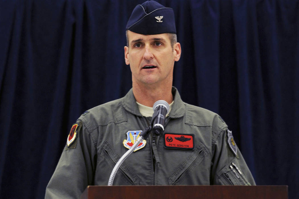 Maj. Gen. Peter Gersten speaks for the first time as the 432d Wing and 432d Air Expeditionary W ...