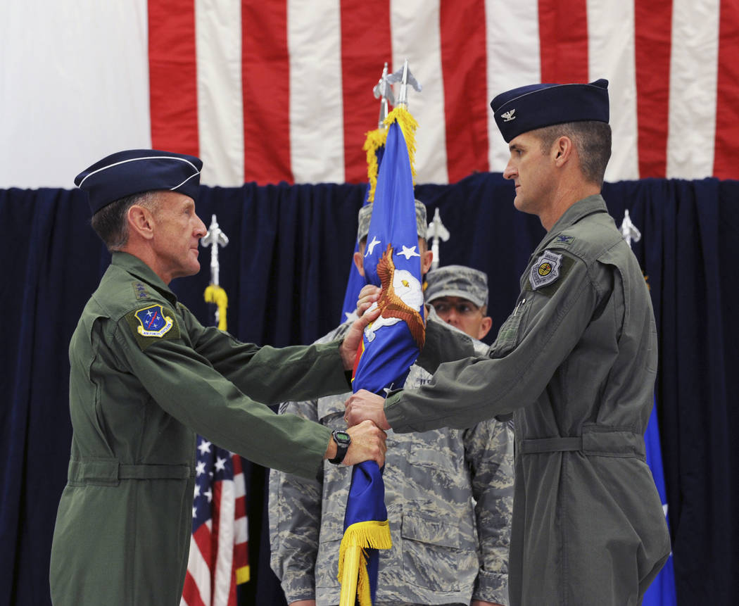 Maj. Gen. Peter Gersten accepts command from Lt. Gen. Norman Seip in 2009. (U.S. Air Force/Seni ...