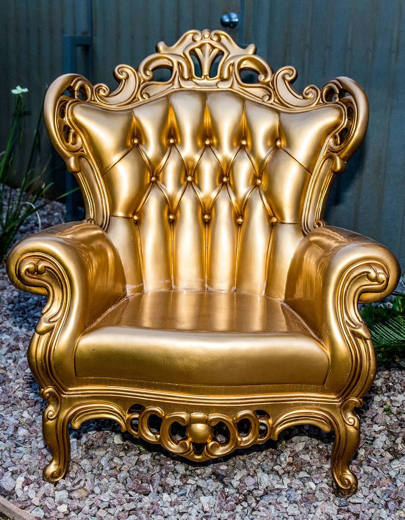 Even the backyard furniture has glitz and glamour. (Tonya Harvey Real Estate Millions)