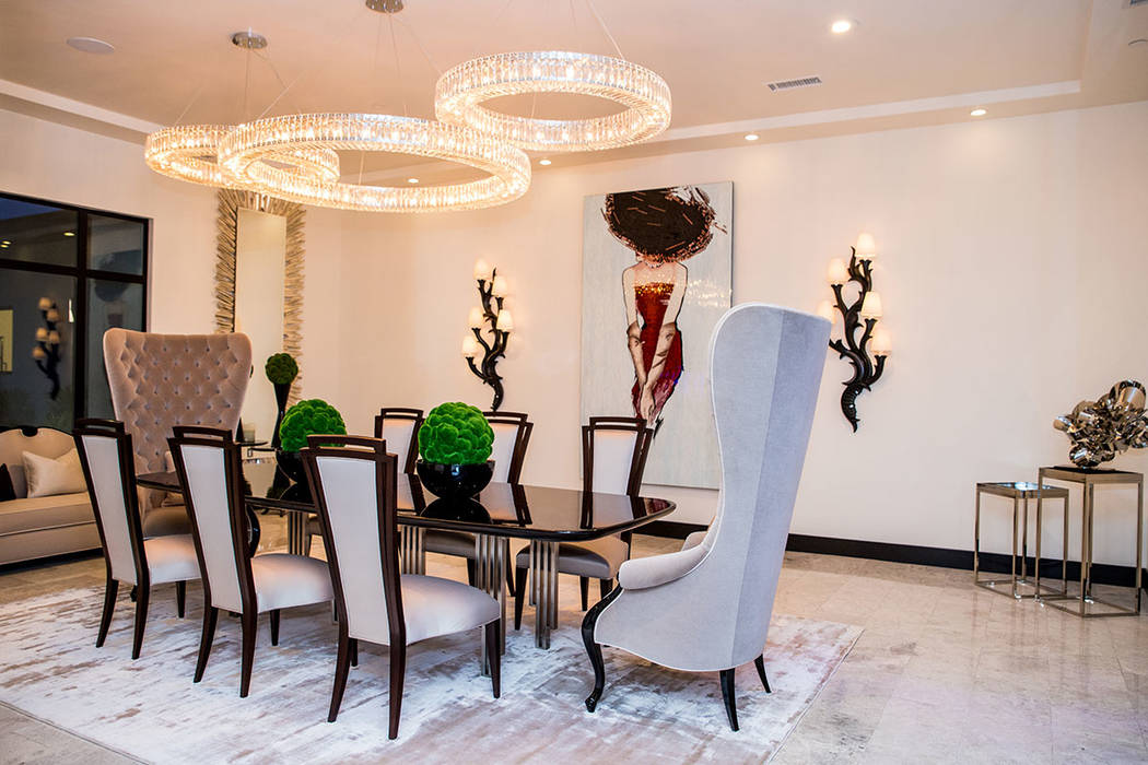 Like very room in the home, the formal dining room is a work of art. (Tonya Harvey Real Estate ...