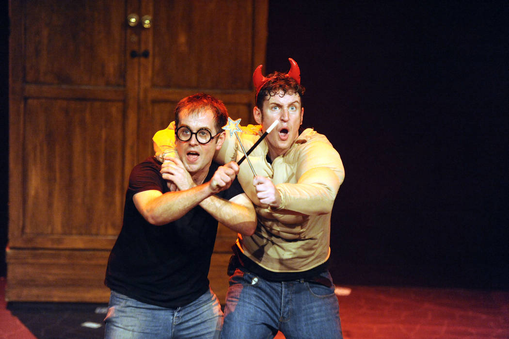 """Jefferson Turner, left, and Dan Clarkson are the writers and stars of """"Potted Potter: The Una ..."""