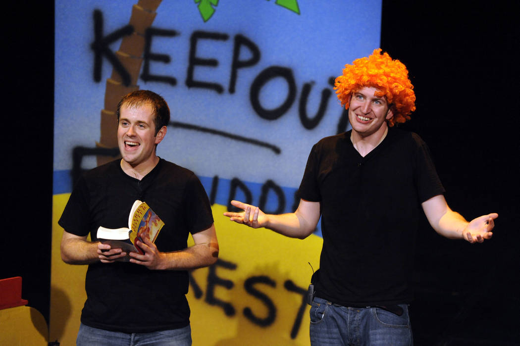 "Jefferson Turner, left, and Dan Clarkson are the writers and stars of ""Potted Potter: The Una ..."