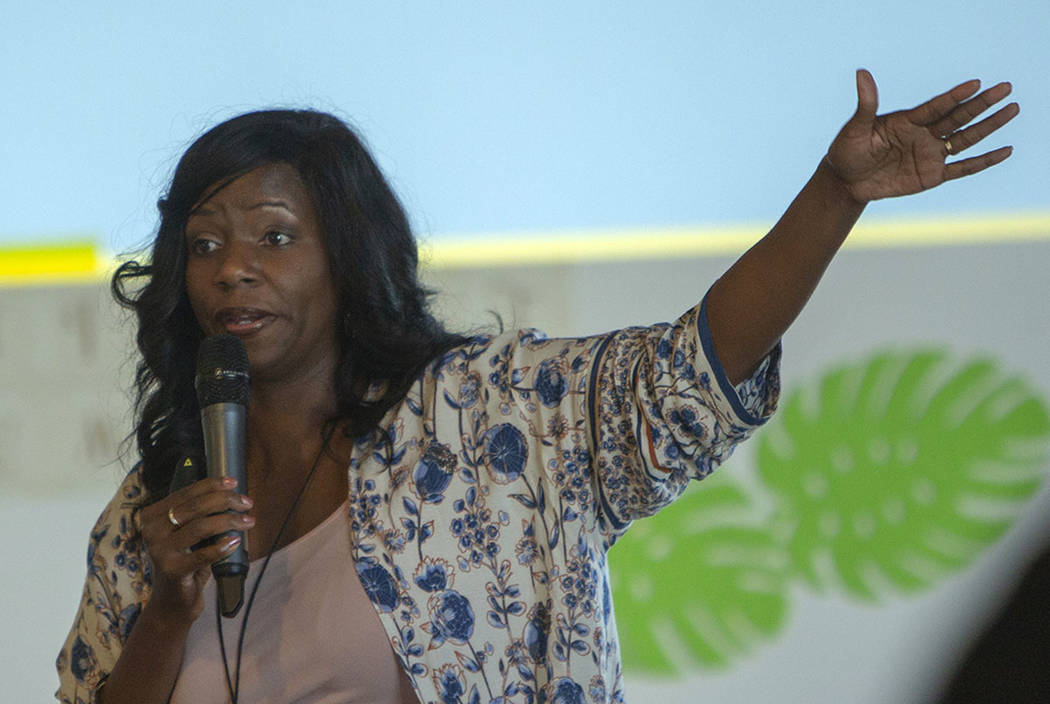 Dr. Shannon Stanton Agboste speaks during the Manifest Summit at Tivoli Village in Las Vegas, S ...