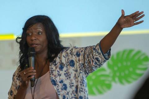 Dr. Shannon Stanton Agboste speaks during the Manifest Summit at Tivoli Village in Las Vegas, S ...