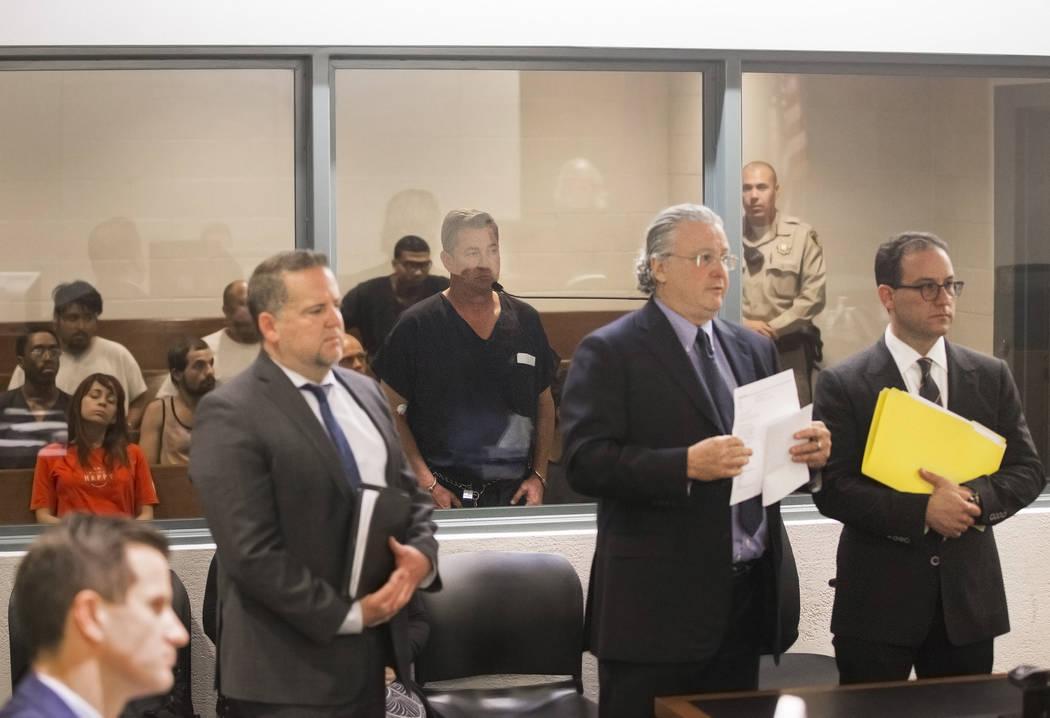 Scott Gragson, grandson of former Las Vegas mayor Oran Gragson, makes his initial appearance at ...