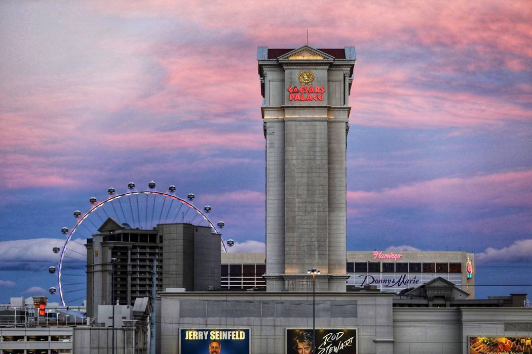 Caesars Palace on the Las Vegas Strip on Friday, Feb. 15, 2019. (Todd Prince/Las Vegas Review-J ...