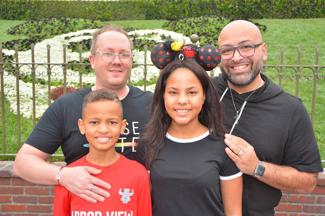 Joe Oddo, right, and husband, Tim, left, with son Zayn, 11, and daughter Malaya, 12. Photo cour ...