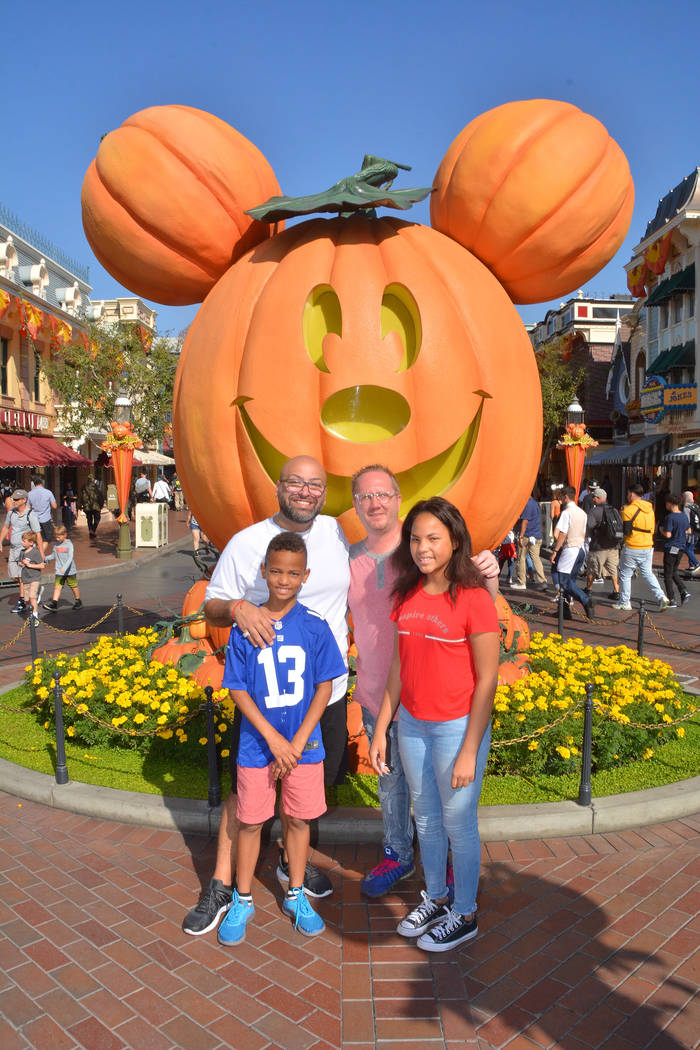 Joe Oddo, back left, and husband Tim with son Zayn, 11, and daughter Malaya, 12. Photo courtesy ...