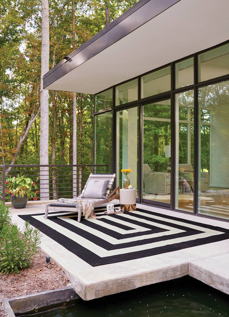 The Cabana Stripe rug from Capel is an indoor or outdoor rug made of 100 percent polypropylene. ...