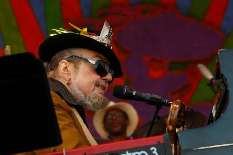 Dr. John performs at the New Orleans Jazz & Heritage Festival on Sunday, May 3, 2015, in Ne ...