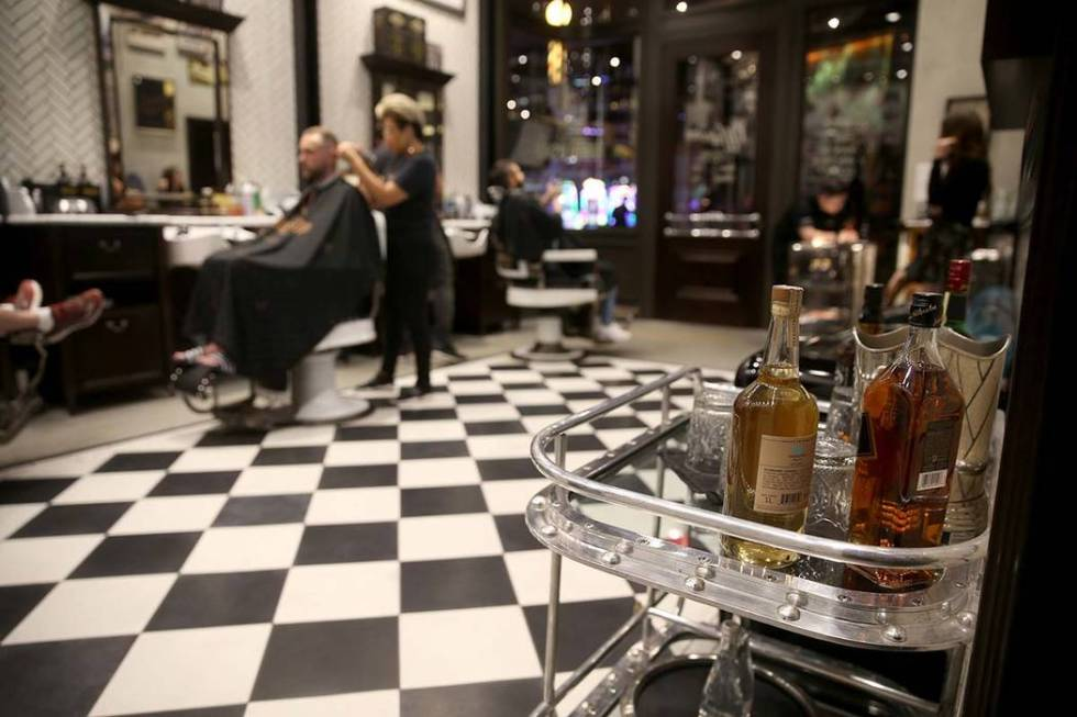 The bar cart at the Barbershop at the Cosmopolitan Monday, June 10, 2019. (K.M. Cannon/Las Vega ...