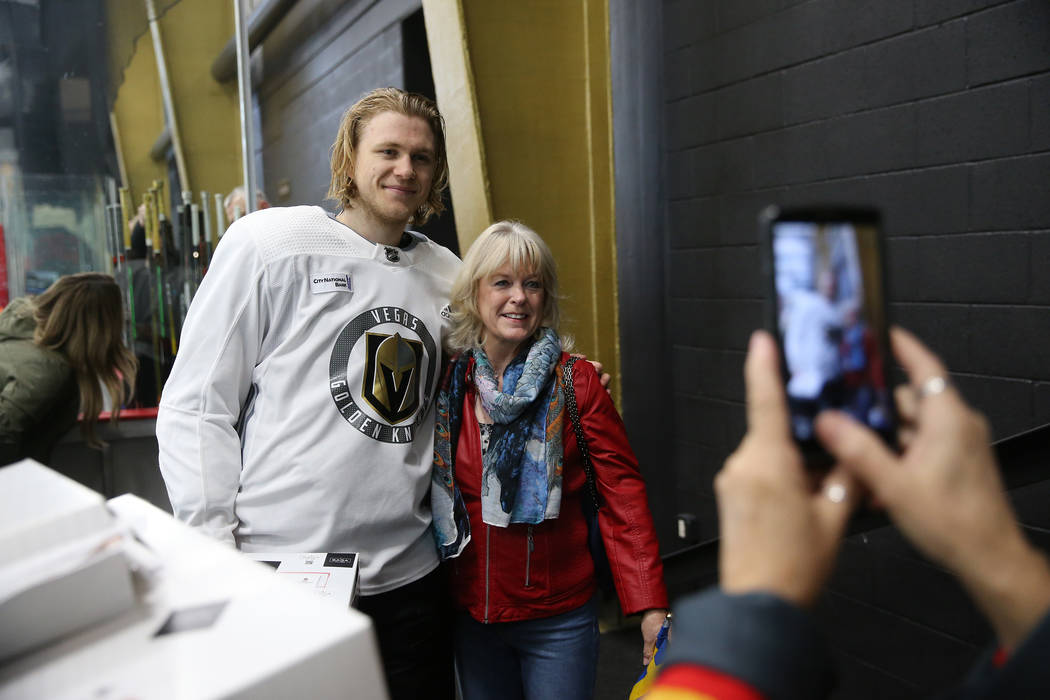 Lena Walther, right, honorary consul for the Consulate of Sweden in Las Vegas, is photographed ...