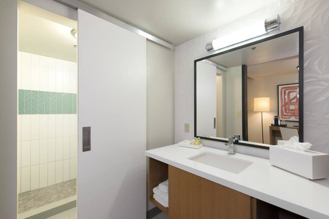 A new Luxe bathroom at the Plaza. (Courtesy Plaza)