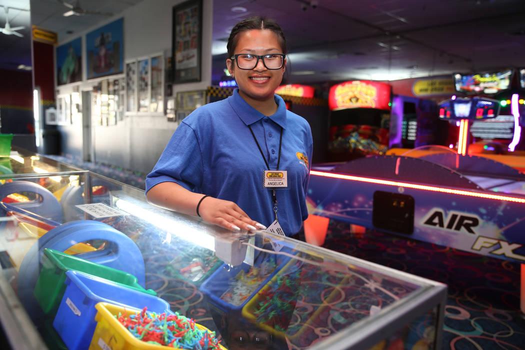 Canyon Springs High School graduate Angelica Tariman, 17, at the Las Vegas Mini Grand Prix in L ...