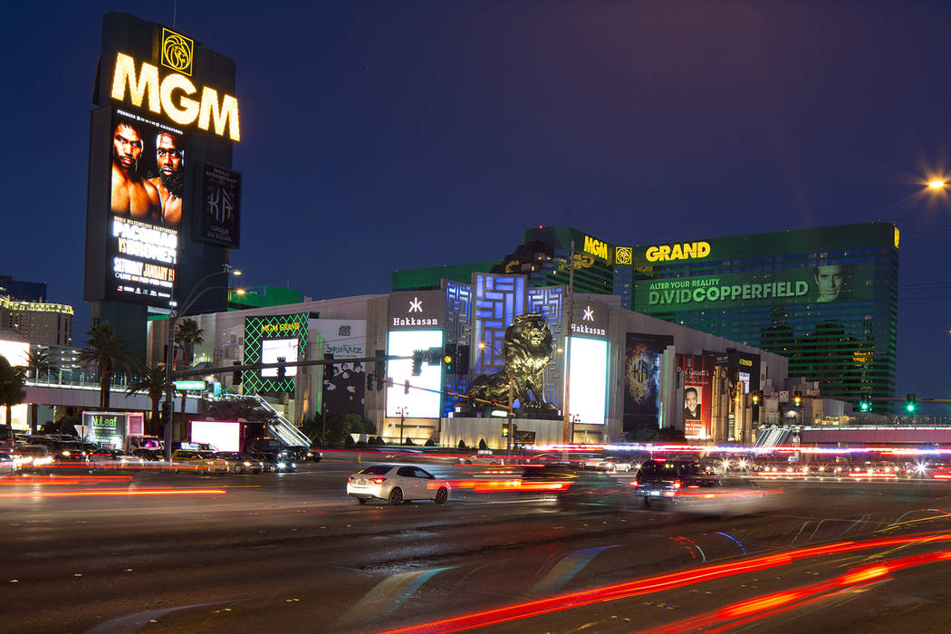 MGM Grand on the Strip in Las Vegas on Saturday, Dec. 15, 2018. Richard Brian Las Vegas Review- ...