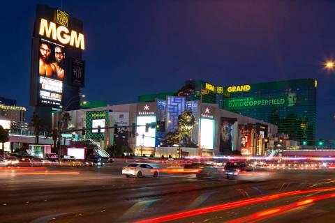 MGM Grand on the Strip in Las Vegas on Saturday, Dec. 15, 2018. Richard Brian Las Vegas Review- ...
