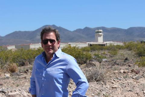 Jeff LaPour stands at the site of a 207,000-square-foot industrial project near Henderson Execu ...