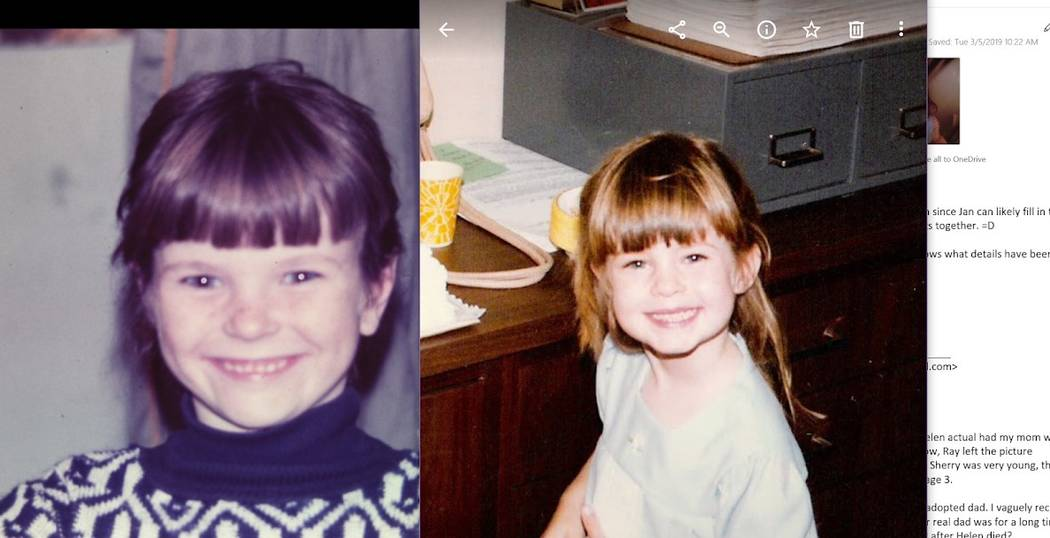 Lainey Gafford-Topacio (left) and Aly Mikos as children in Texas and Florida. (Lainey Gafford-T ...