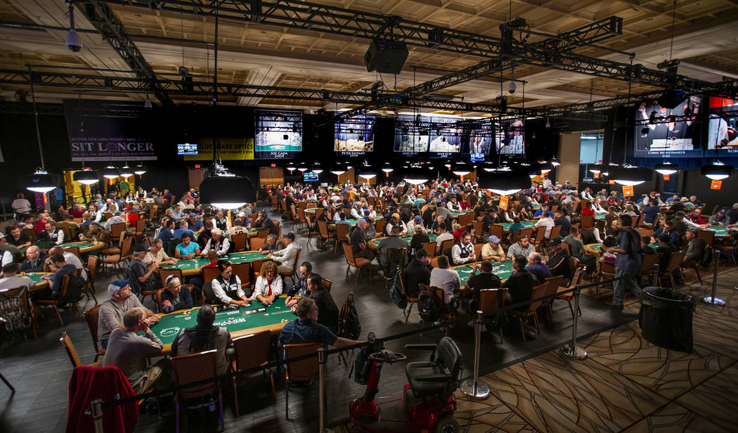 Thousands of WSOP poker players compete at the $500 buy-in, no-limit Hold'em tournament dubbed ...