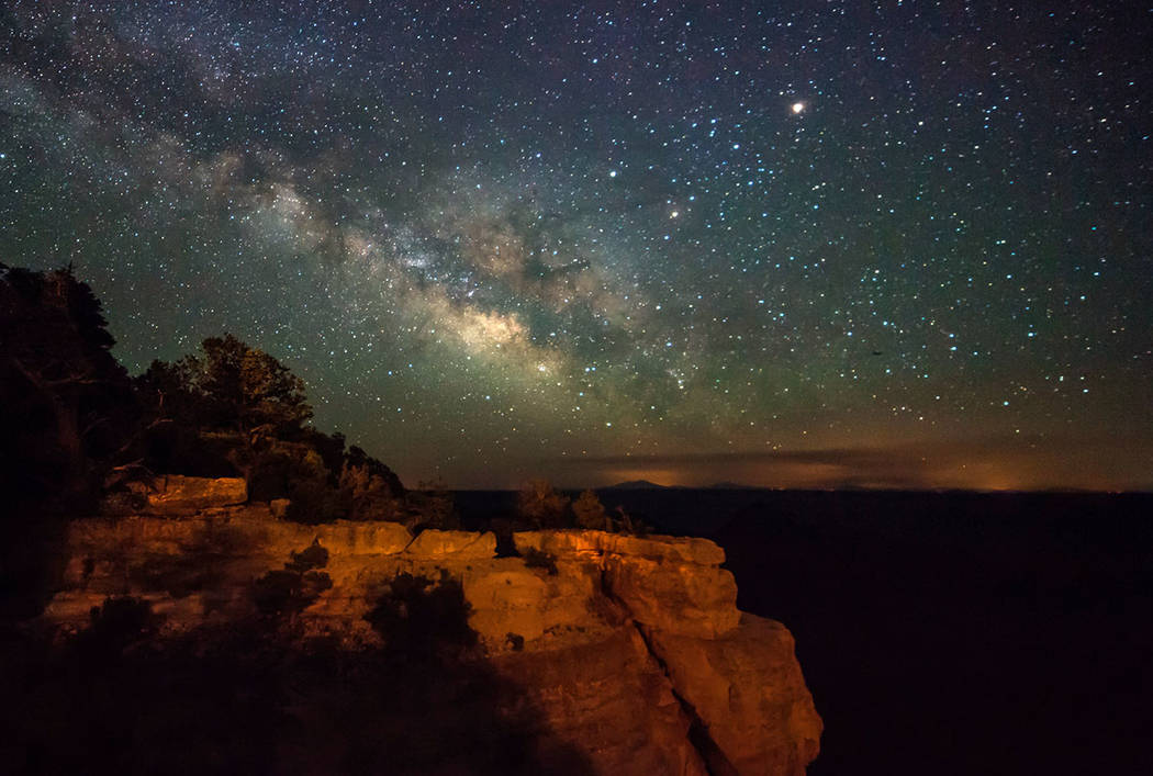 The Milky Way galaxy is seen over the Grand Canyon from the North Rim. (Getty)