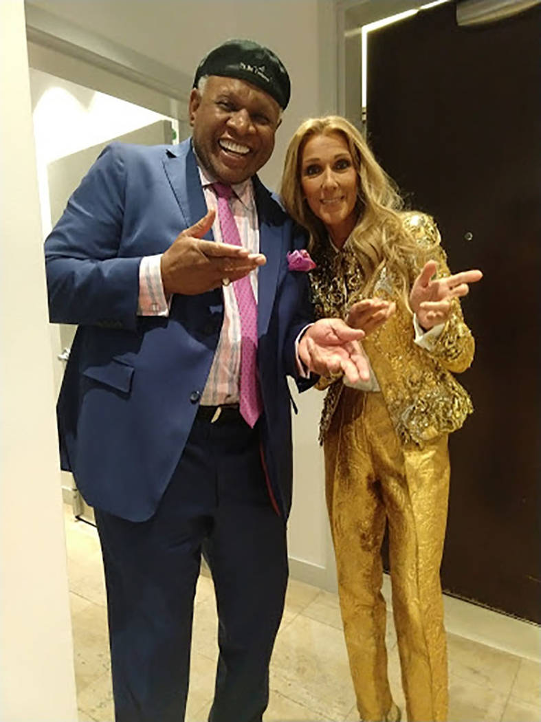 Celine Dion and George Wallace are shown in Dion's final show at the Colosseum at Caesars Pal ...