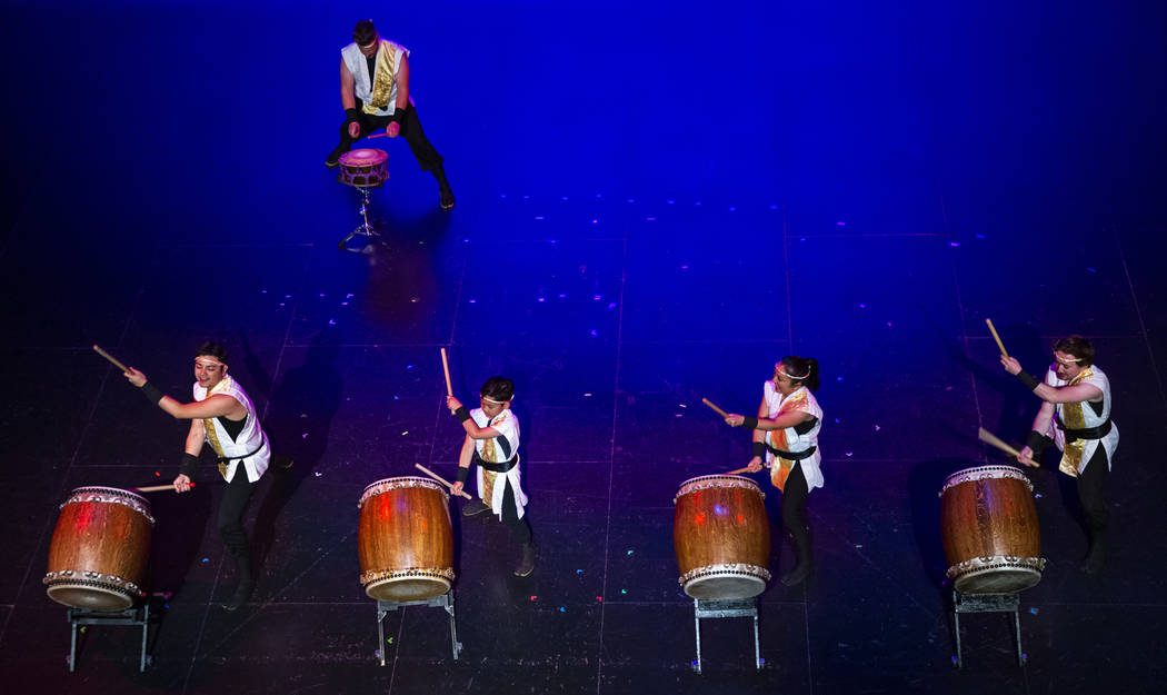 Members of Korabo, a Las Vegas taiko ensemble committed to learning and sharing the traditional ...
