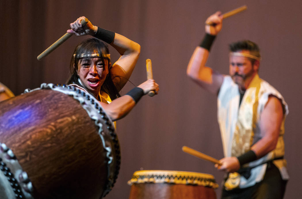 Jen Kong and David Cheetham with Korabo perform the traditional Japanese art form of taiko for ...