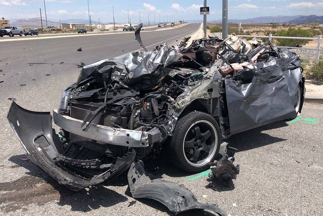Woman dies days after car-truck crash in southwest Las Vegas | Las