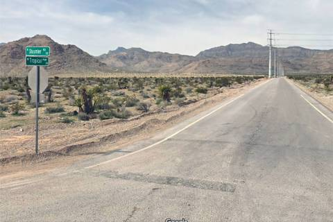 Intersection of Shaumber Road and Tropical Parkway in northwest Las Vegas. (Google)