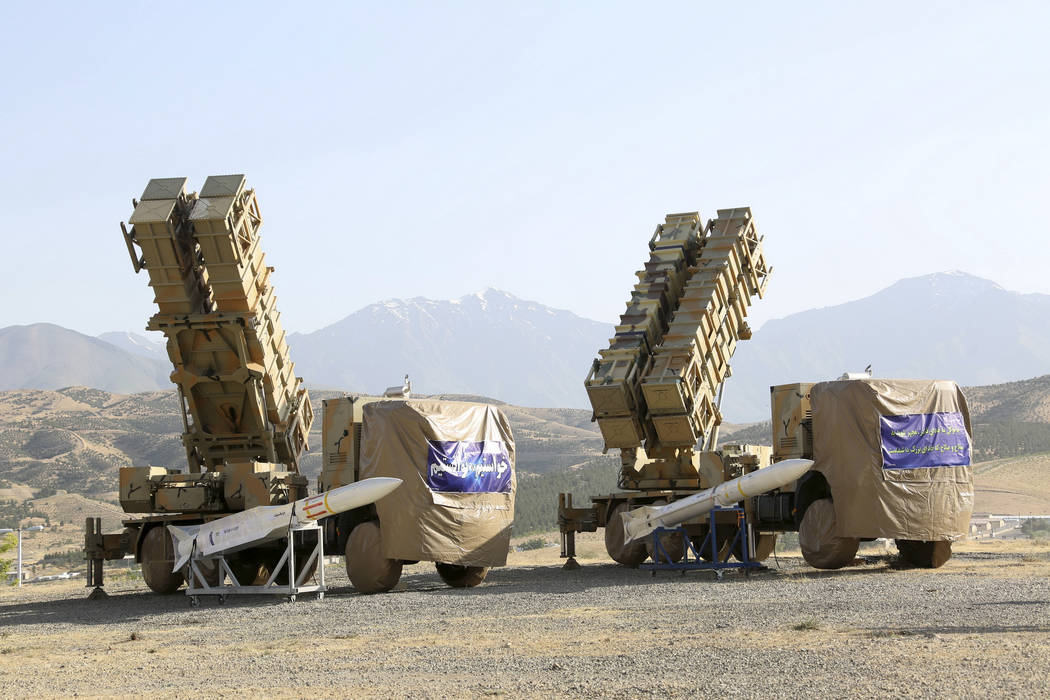 This photo released by the official website of the Iranian Defense Ministry on Sunday, June 9, ...