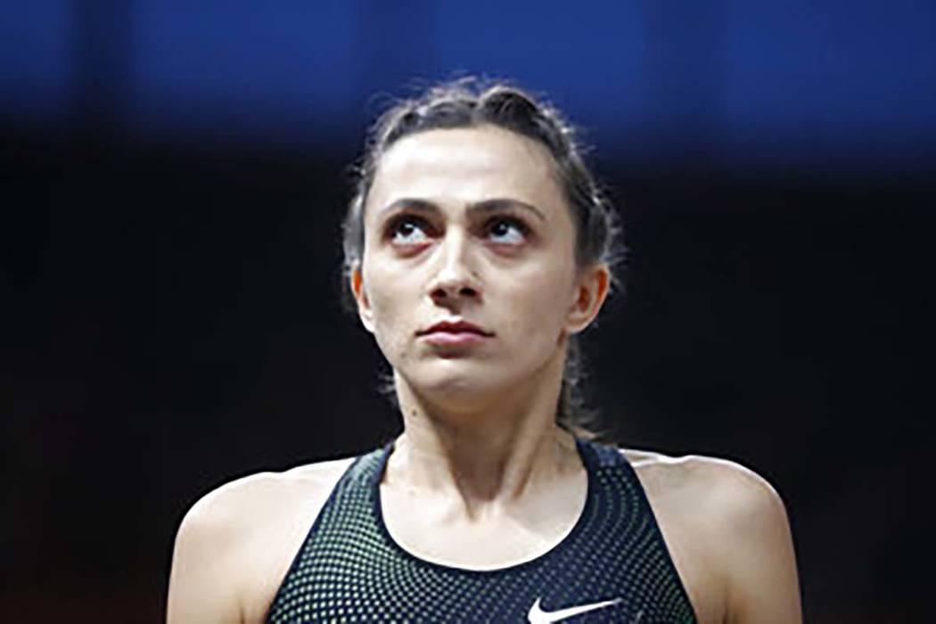 Russia's Mariya Lasitskene looks on in the women's high jump final at the European Athletics Ch ...