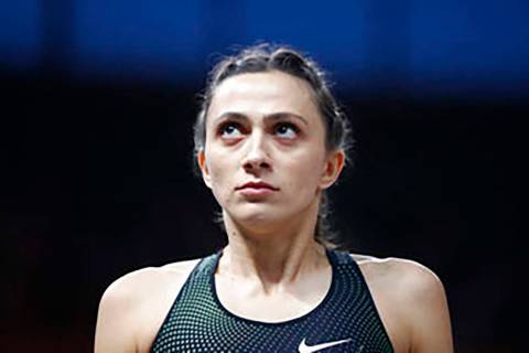 Russia's Mariya Lasitskene looks on in the women's high jump final at the European Athletics Ch ...