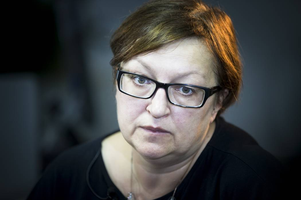 FILE - In this Monday, Aug. 10, 2015, file photo, Russian editor of the news site Meduza Galina ...