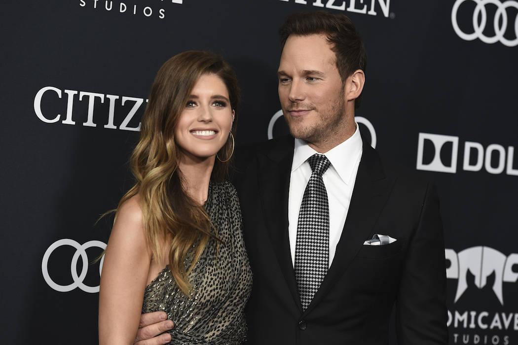 In this April 22, 2019, file photo, Katherine Schwarzenegger, left, and Chris Pratt arrive at t ...