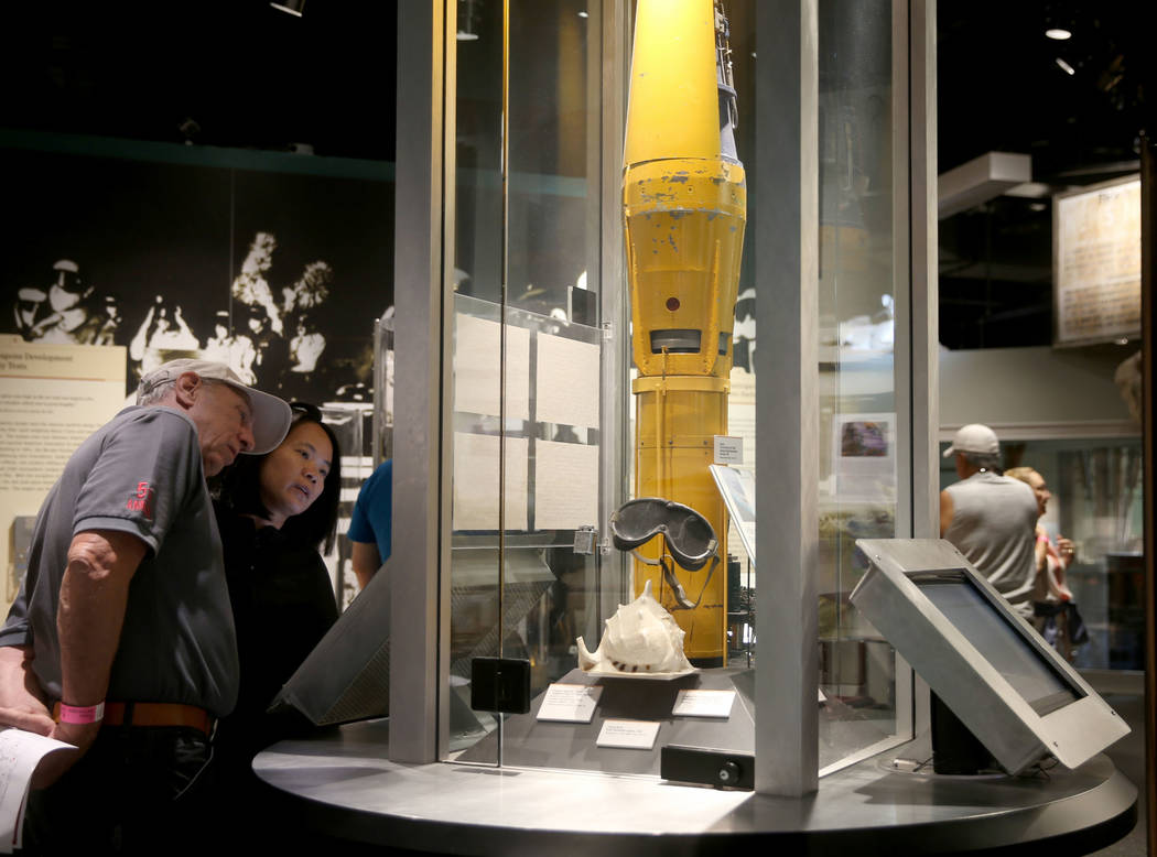 Customers who declined to give their names tour the National Atomic Testing Museum in Las Vega ...