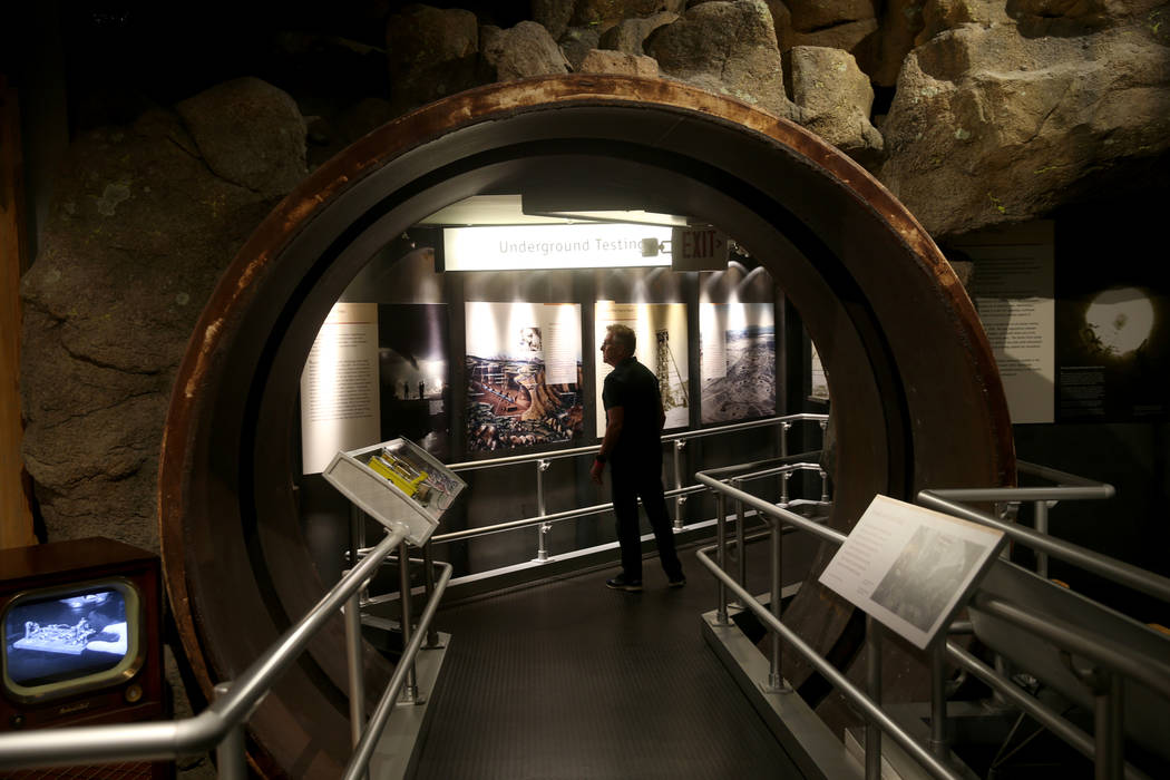 Brad Goldberg, of Los Angeles, tours the National Atomic Testing Museum in Las Vegas Monday, Ju ...