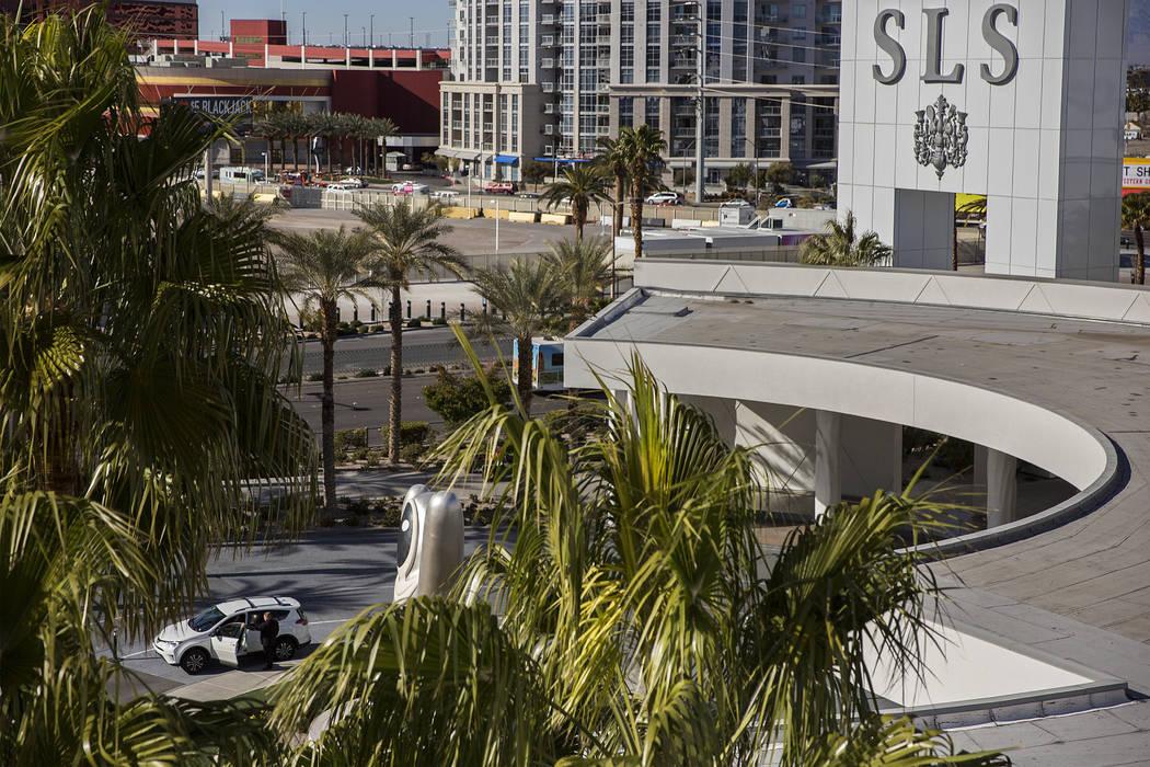 Phil Covey valets a car at SLS Las Vegas on Wednesday, Feb. 27, 2019, in Las Vegas. (Benjamin H ...