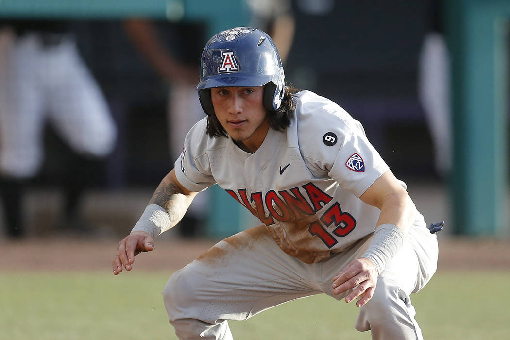Arizona Nick Quintana in the first inning during an NCAA college baseball game against Grand Ca ...